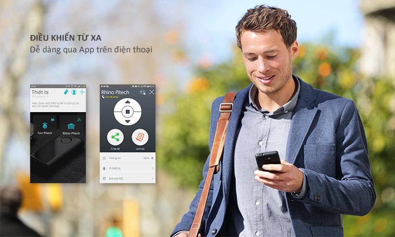 Công nghệ mở cửa cuốn bằng điện thoại thông minh