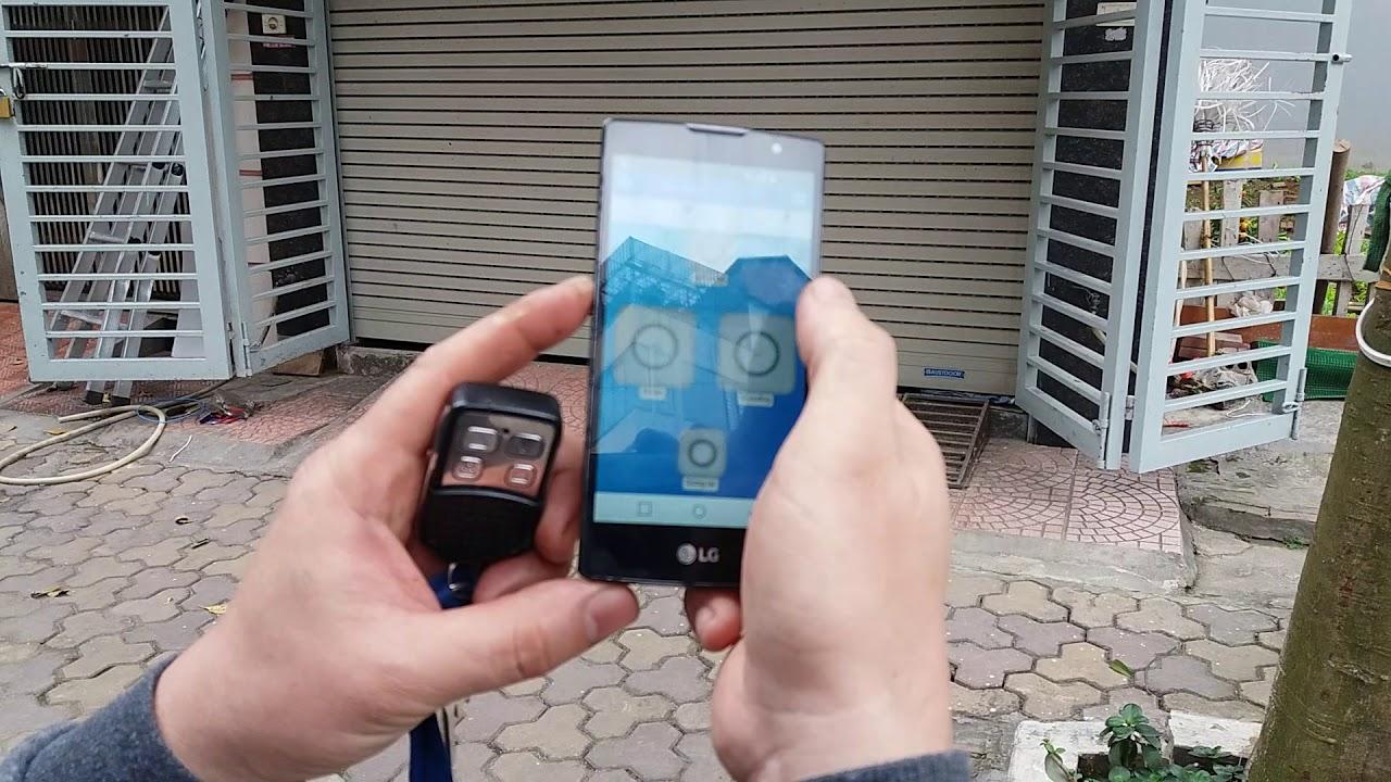 Thiết bị điều khiển cửa cuốn từ xa bằng smartphone